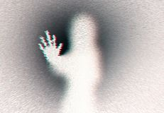 Ghost hand woman version. With extrude effect, chromatic aberration and reversed color Stock Photos