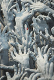 Ghost hands from hell, Conceptual sculpture decorations Stock Image