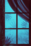 Ghost Hands on Window Royalty Free Stock Photography