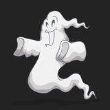 Ghost heureux de apparence vague, illustration de vecteur Photo stock