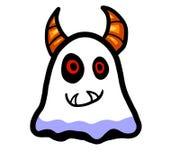 Ghost Horned alaranjado adorável ilustração royalty free