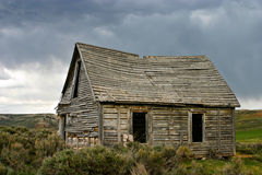 Ghost House Stormy Skies Stock Photography