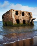 Ghost house on water. Royalty Free Stock Photos