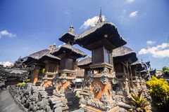 Ghost houses in the Hindu temple, Bali Indonesia Stock Images