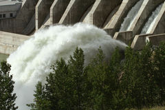 Ghost Hydroelectric Dam. The Ghost Hydroelectric Dam spillway, Alberta, Canada Stock Image