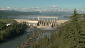 Ghost Hydroelectric Dam and Reservoir stock footage