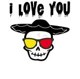 Ghost I love you , Back Ground Stock Image