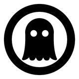Ghost icon black color vector illustration simple image. Flat style Royalty Free Stock Images