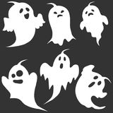 Ghost, the ghost icon, apparition, shadow, darkness, halloween Royalty Free Stock Photos