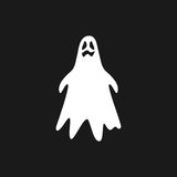 Ghost icon isolated on black background Stock Photos