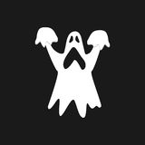 Ghost icon isolated on black background Stock Photography