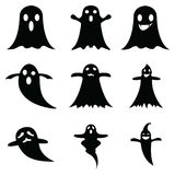 Ghost icon set. The ghost of icon set royalty free illustration