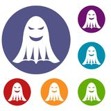 Ghost icons set Stock Image