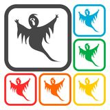 Ghost icons set Stock Images