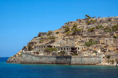 Ghost island of Spinalonga Royalty Free Stock Photography