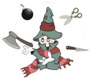 Ghost the juggler cartoon Stock Photo