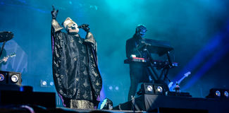Ghost live in Hellfest festival 2016. Ghost is a Swedish heavy metal band that was formed in Linköping in 2008. In 2010, they released a 3-track demo followed stock photo