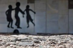 Ghost of lost city Pripyat. Chernobyl area. Modern ruins.Graffiti. Ukraine. Kiev region Stock Image