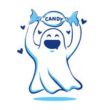 Ghost love candy Royalty Free Stock Photo