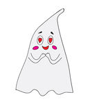 Ghost in love on a white background Stock Photo