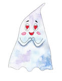 Ghost in love on a white background Royalty Free Stock Image