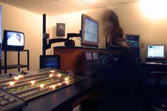 Ghost in the Machine. Creative Blur of Tech ghost in Master Control Royalty Free Stock Images