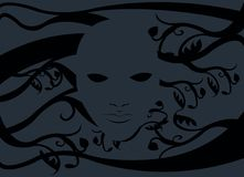 Ghost mask without a face Stock Images