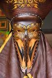 Ghost mask in Ghosh Mash Festival Phi Ta Khon festival. Royalty Free Stock Photos