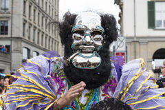 Ghost masquerade carnival Zurich stock image