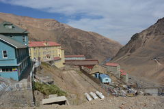 Ghost mining town of Sewell, Chile Stock Image