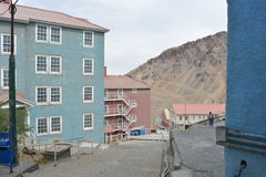 Ghost mining town of Sewell, Chile Royalty Free Stock Photo