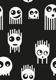 Ghost monsters seamless pattern, vector Stock Image