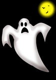 Ghost and moon stock image