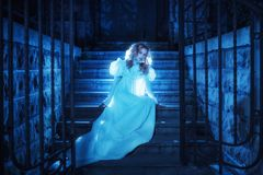 Ghost na noite foto de stock