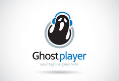 Ghost Player Logo Template Design Vector, Emblem, Design Concept, Creative Symbol, Icon Royalty Free Stock Images
