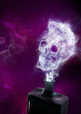 Ghost in a poison bottle, Illustration Stock Image