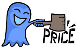 Ghost and price. Creative design of ghost and price Royalty Free Stock Photography