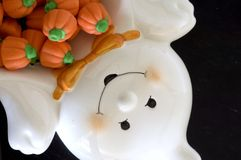 Ghost pumpkin candy Stock Image