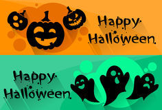 Ghost Pumpkin Face Cartoon Halloween Character Web Stock Image