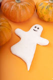 Ghost with pumpkin Royalty Free Stock Image