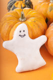 Ghost with pumpkin Stock Images