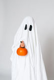 Ghost and a pumpkin Royalty Free Stock Images