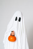 Ghost and a pumpkin Stock Image