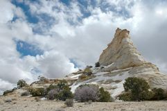 Ghost Rock. Rock formation in the Utah desert off I-70 Stock Photos