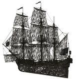 Ghost sailboat Royalty Free Stock Photography