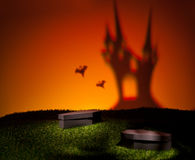 Ghost of the scary castle Stock Images