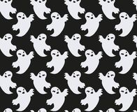 Ghost seamless pattern. Scary spirit repeating texture. Halloween endless background. Vector illustration. Ghost seamless pattern. Scary spirit repeating Royalty Free Stock Photos