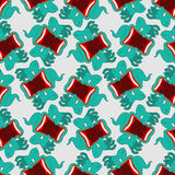 Ghost seamless pattern. Terrible howling wraith background. Royalty Free Stock Photos