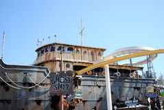 Ghost ship amusement ride Royalty Free Stock Image