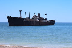 Ghost Ship. On Black Sea Romania Stock Images